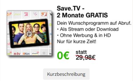 2 Monate SaveTV Gratis