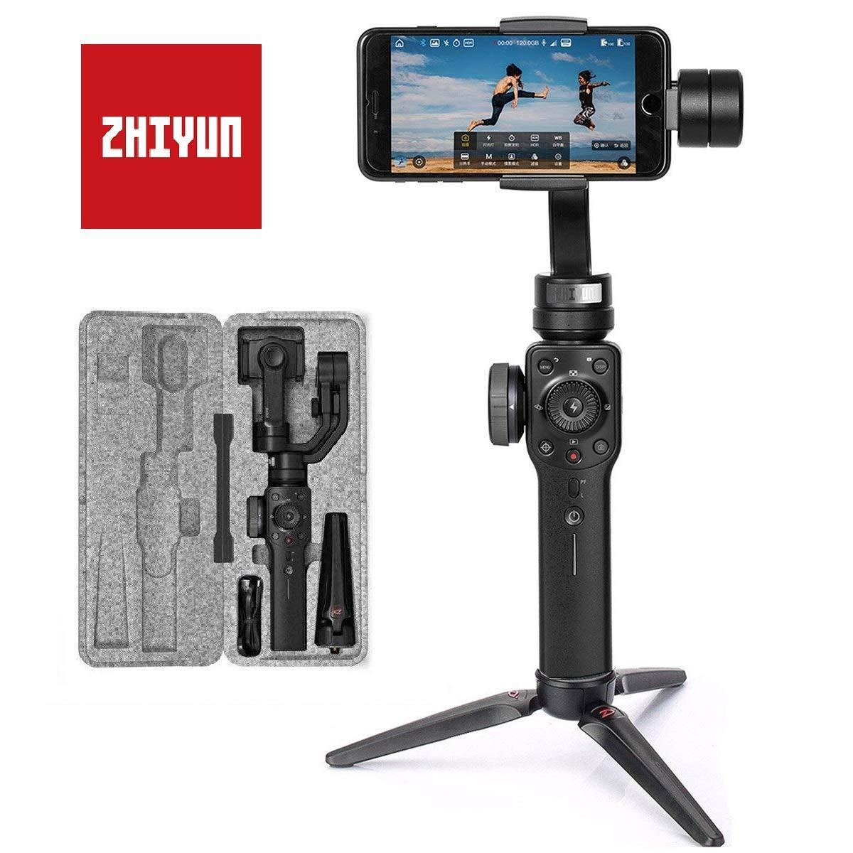 Zhiyun Smooth 4 Smartphone Gimbal bis zu 210g 6,5 Zoll  und GoPro Hero - Zollfreie Lieferung -