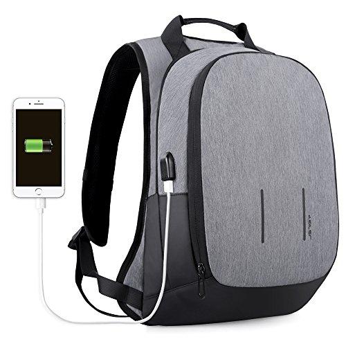 Schulrucksack / Laptop Rucksack mit USB Port  für Laptops / Notebooks bis 15,6 Zoll, Spritzwasserfest [Amazon Prime]