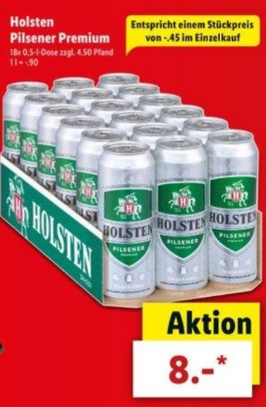 Holsten Bier 18er Karton mit 0,5l Dosen ab heute