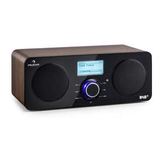 Auna Worldwide Stereo Internet-Radio, Walnuss, Timer, LCD Display, Spotify Connect, App-Control , DAB/DAB+, UKW-RDS-Tuner, WLAN, AUX, USB & Kopfhöreranschluss für 86,23€ Versandkostenfrei