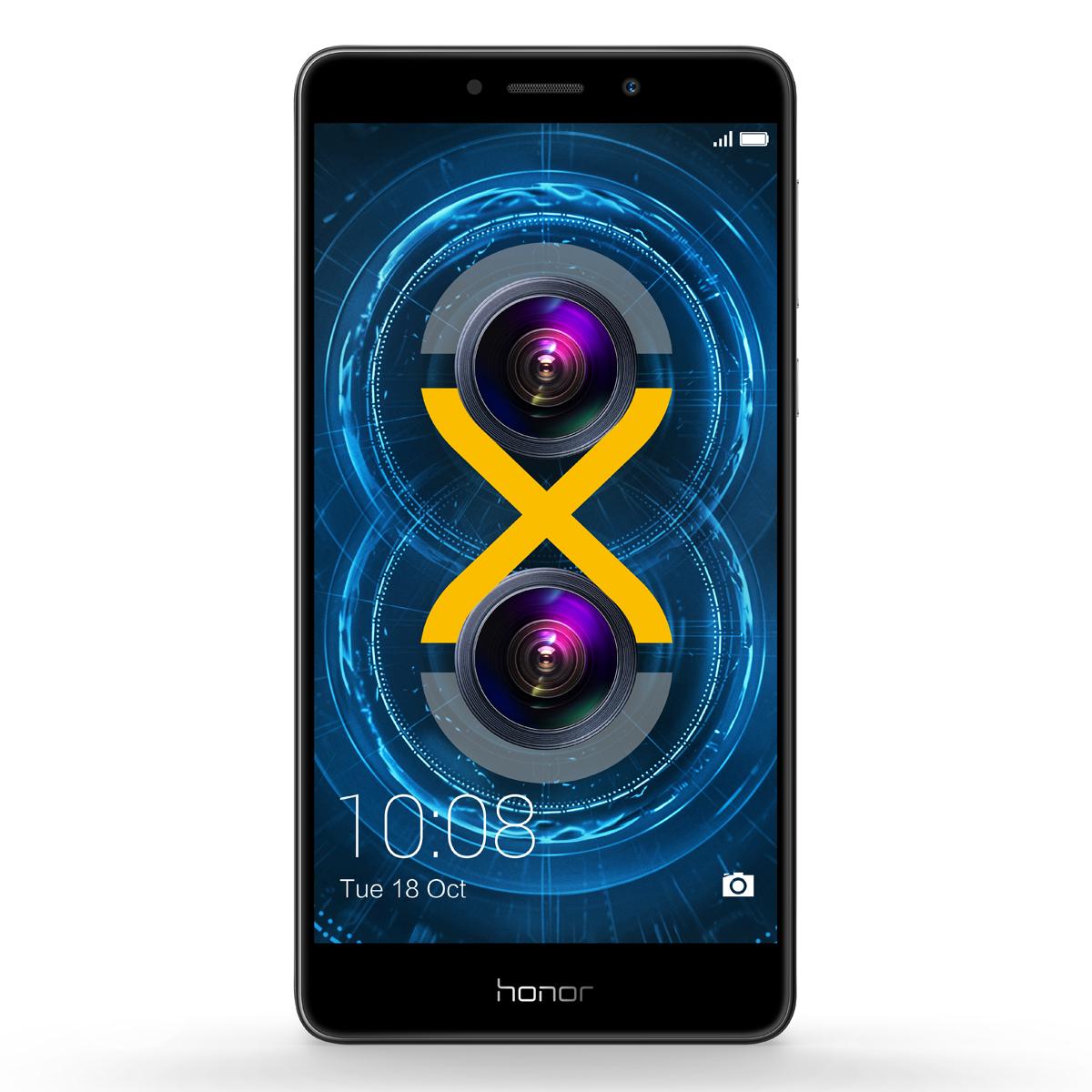 Honor 6X Smartphone (13,97 cm (5,5 Zoll) Full HD Display, 32 GB Speicher, Android, Dual SIM, 2.1GHz OctaCore-CPU, 12MP Dual-Kamera, Grau)  [Saturn/eBay]