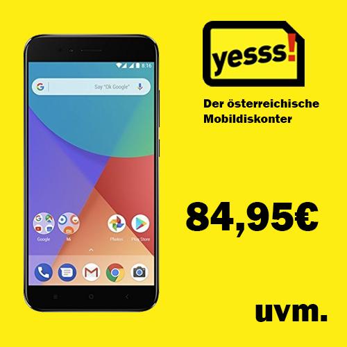 [Österreich] Xiaomi MI A1 um €84,95, Nokia 2 um €39,95 - bei Yesss! Mobilfunkdiskonter