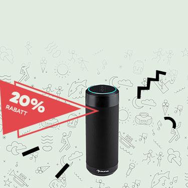[Auna] 20% Rabatt auf ausgewählte Bluetooth-Lautsprecher z.B.: Intelligence Tube Lautsprecher Alexa Voice Sprachsteuerung Spotify BT WLAN, Versandkostenfrei