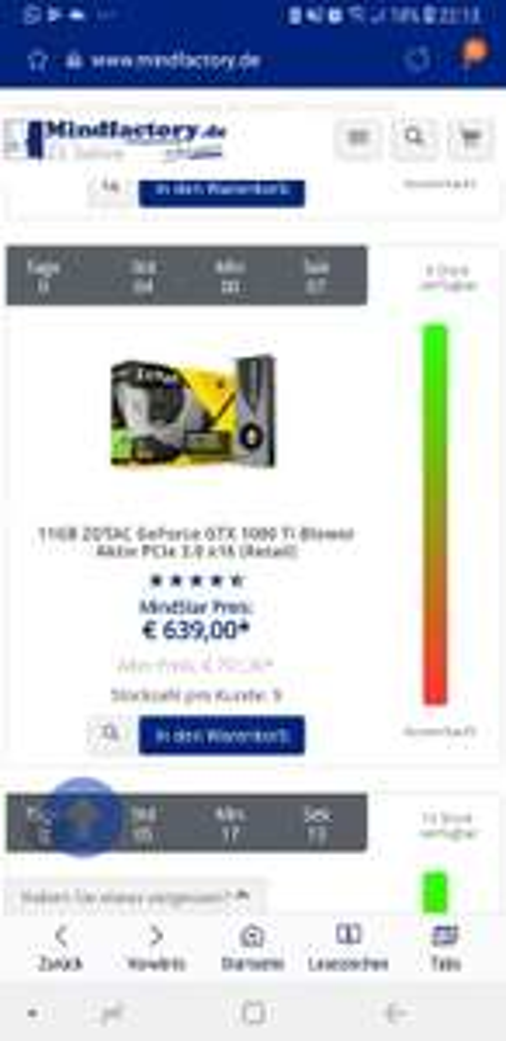 Zotac GeForce GTX 1080 TI [Mindfactory]