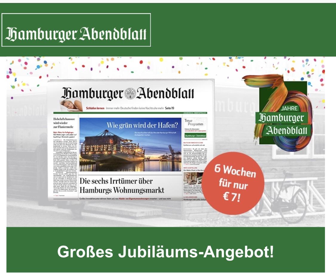 [Lokal HH] 6 Wochen Hamburger Abendblatt für 7,- € - Print frei Haus oder Digital