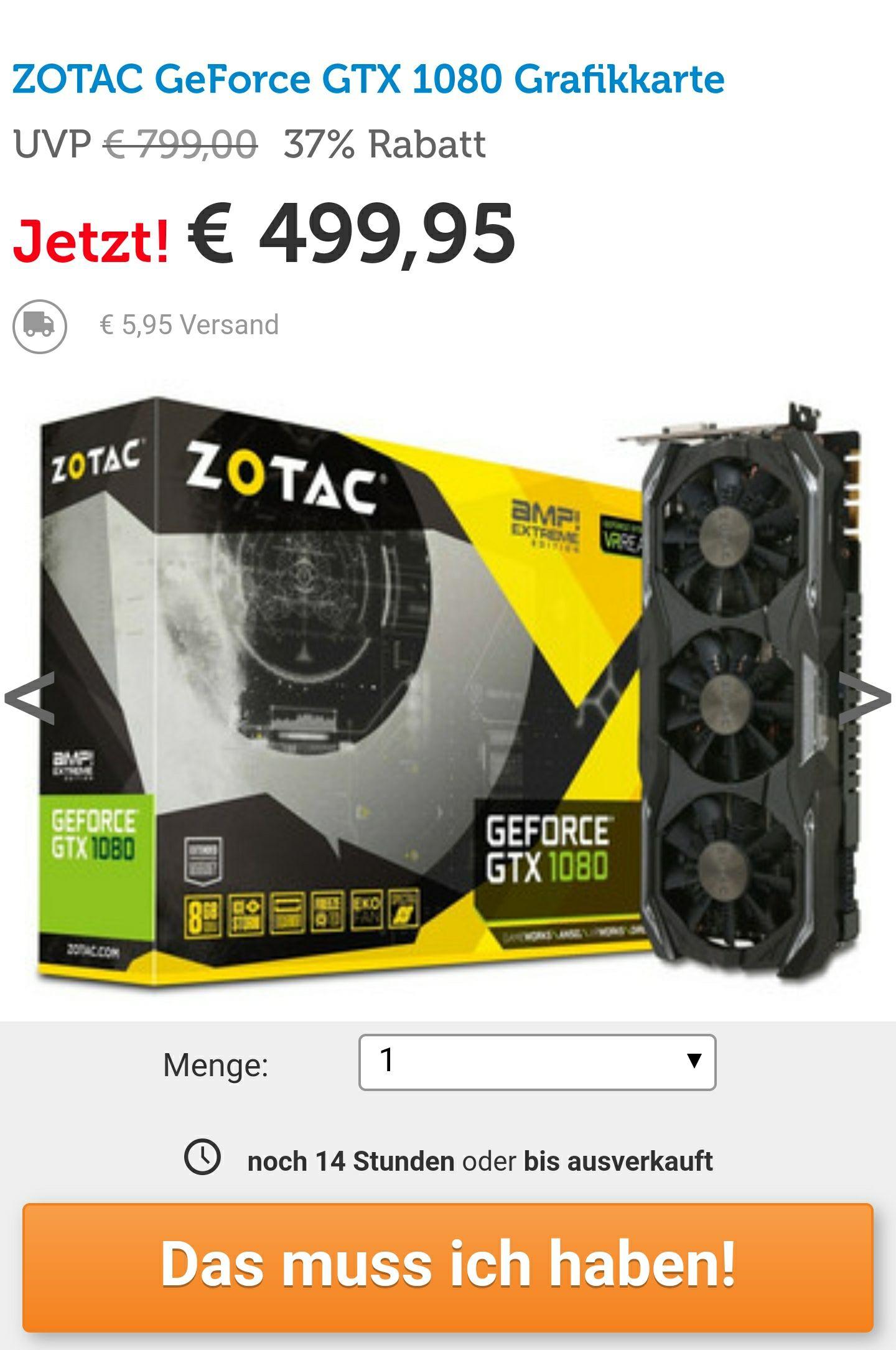 Zotac Gtx 1080 AMP Extreme Edition