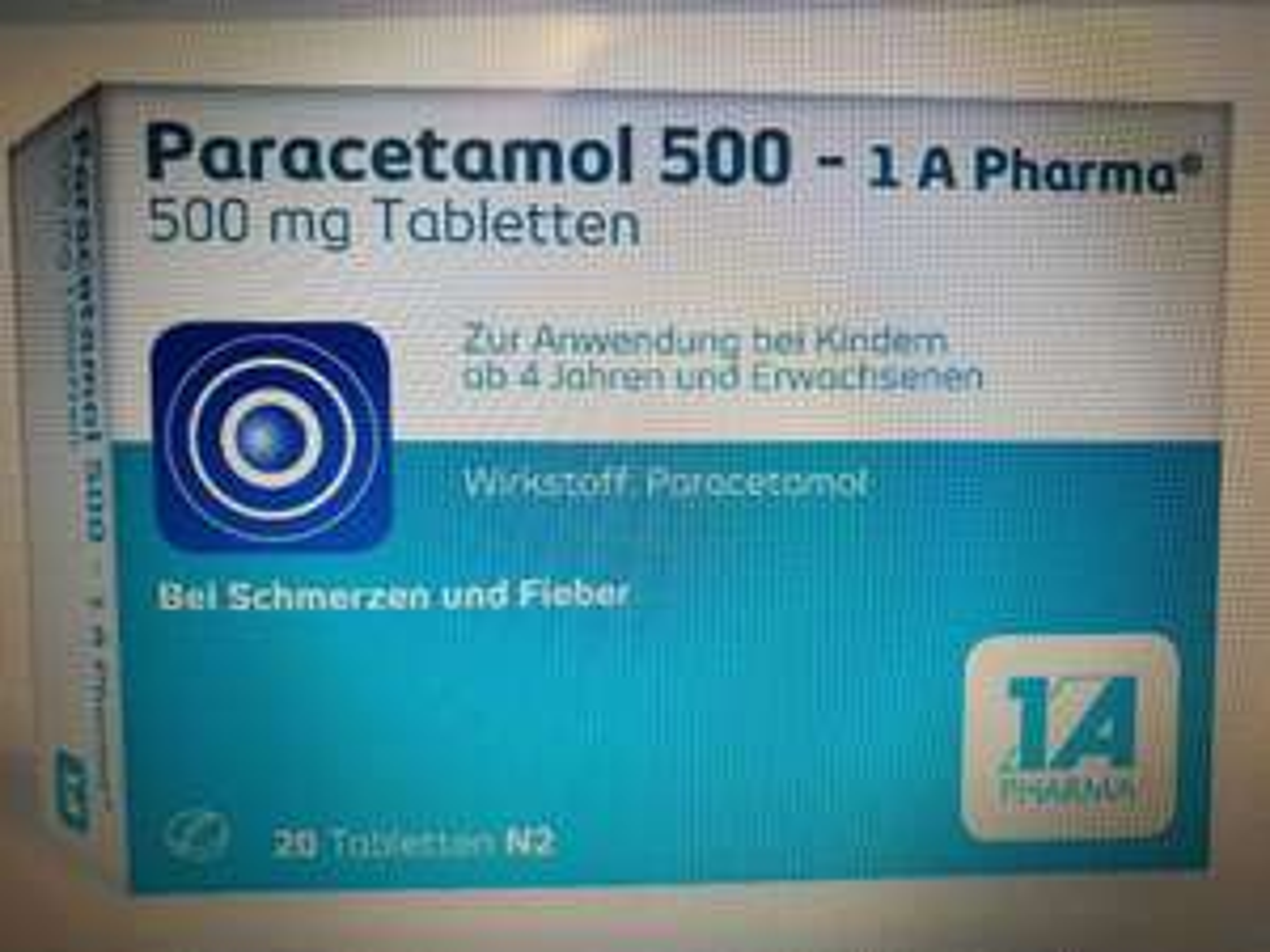 [Paracetamol] 20 Tabletten Paracetamol 500 mg zum aktuellen Tiefstpreis