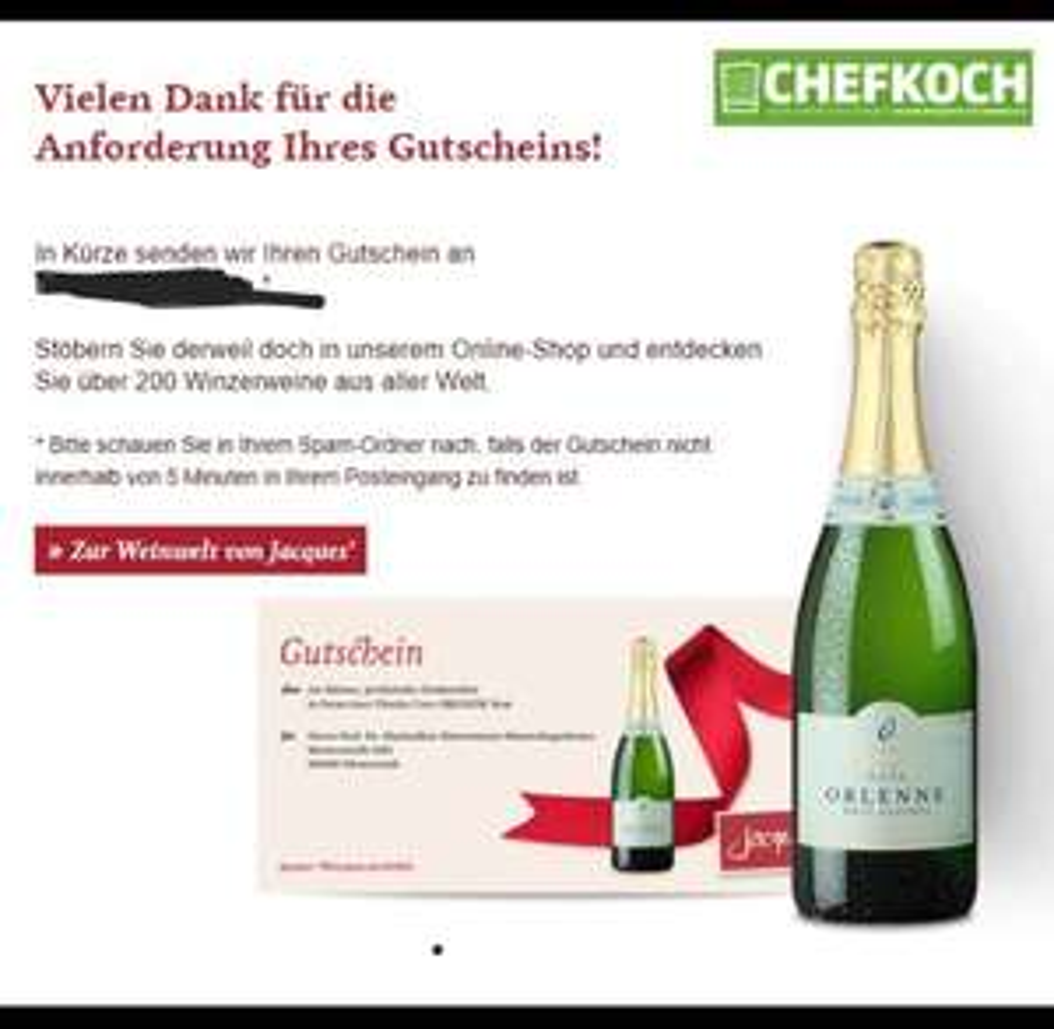[Jacques Wein-Depot] Gratis Sekt beim Kauf einer Ausgabe vom Chefkoch-Magazin