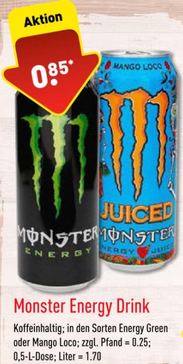 Monster Energy Verschiedene Sorten (0,5l) und weitere Angebote bei Aldi Nord (ab 22.10.)