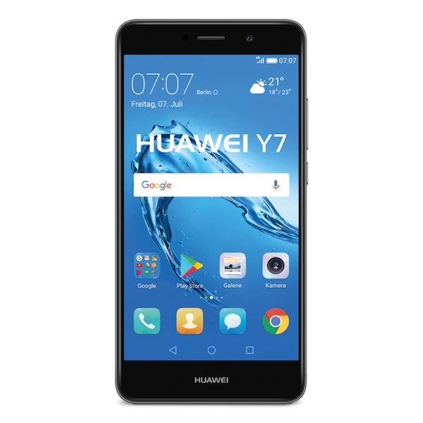 [Medion] Huawei Y7 Smartphone (14 cm (5,5 Zoll) HD Display, 16 GB Speicher, Android 7.0) grau/silber