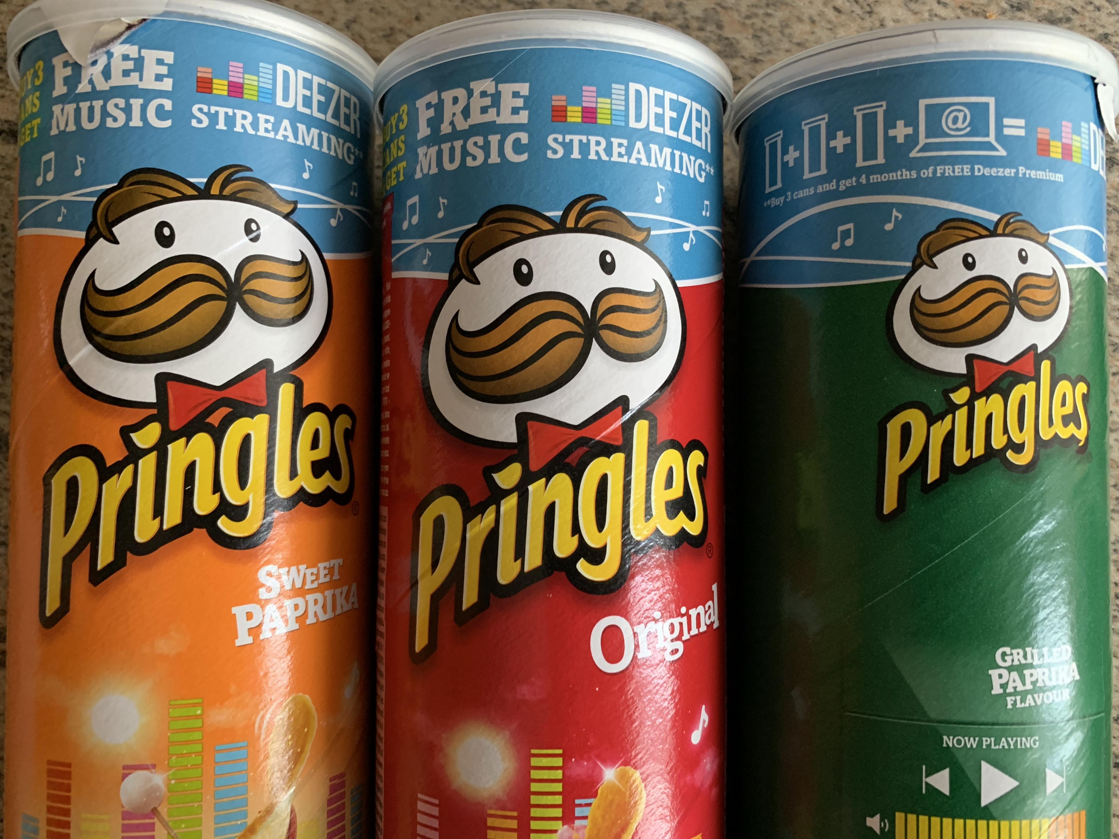 [lokal Stuttgart] 3x Pringles Dose Angebot inkl. 4 Monate Deezer Premium+