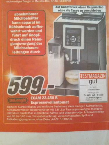 [MM lokal] DeLonghi ECAM 23.450 B Espressovollautomat
