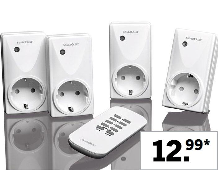 Funksteckdosenset, 5-teilig für nur 12,99€ bei (Lidl)