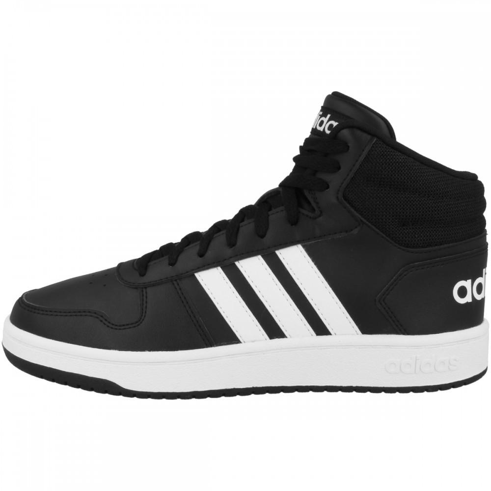 Adidas Hoops 2.0 Mid schwarz in den Größen 41 – 46