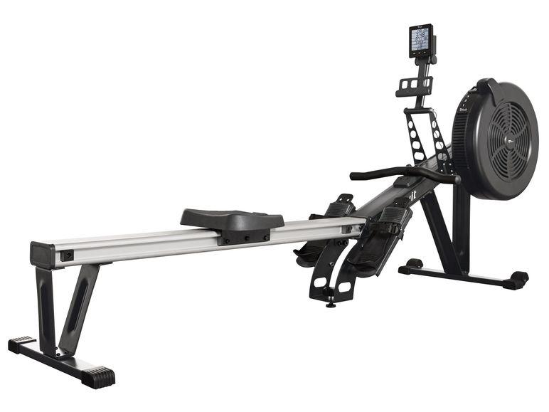 CRIVIT® Rudergerät Full-Body-Workout / 10-stufige manuelle Widerstandseinstellung / 7 Funktionen & 10 Trainingsprogramme (Concept 2 Clon)