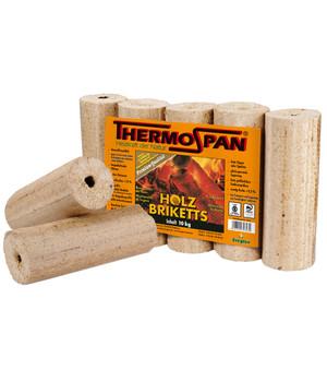 Thermospan Holzbriketts (rund mit Loch) bei Dehner 10 kg Packung 2,79€; Palette 960kg 258,24€