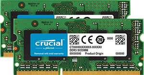 Crucial CT2C8G3S186DM 16GB (8GB x 2) Speicher Kit (DDR3L, 1866 MT/s, PC3-14900, SODIMM, 204-Pin)