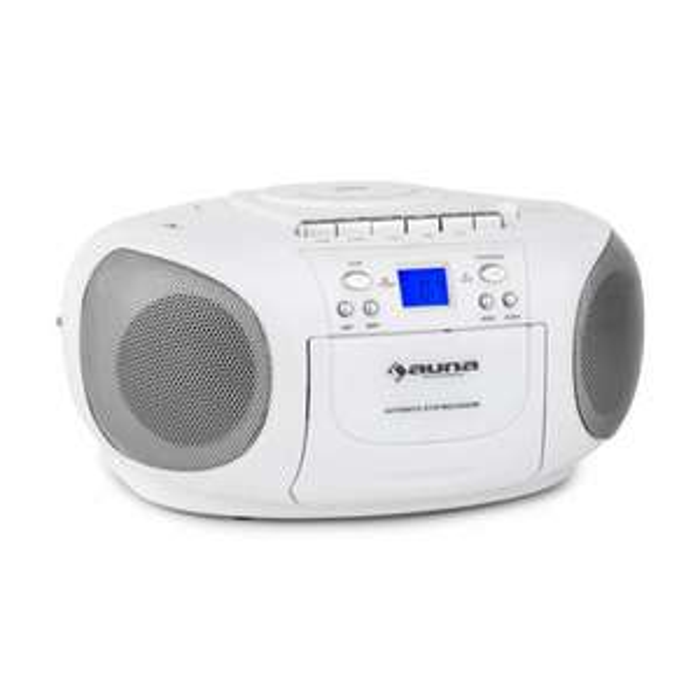 Auna BoomBerry Ghettoblaster Radio CD/MP3-Player Kassettenplayer