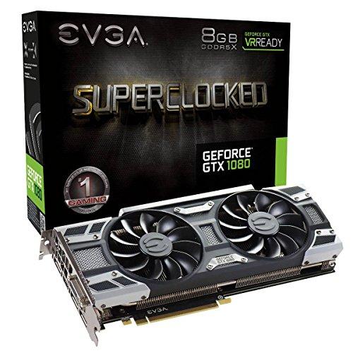 EVGA GeForce GTX 1080 SC GAMING ACX 3.0, 8GB GDDR5X, LED, DX12 OSD Support (PXOC) Grafikkarte