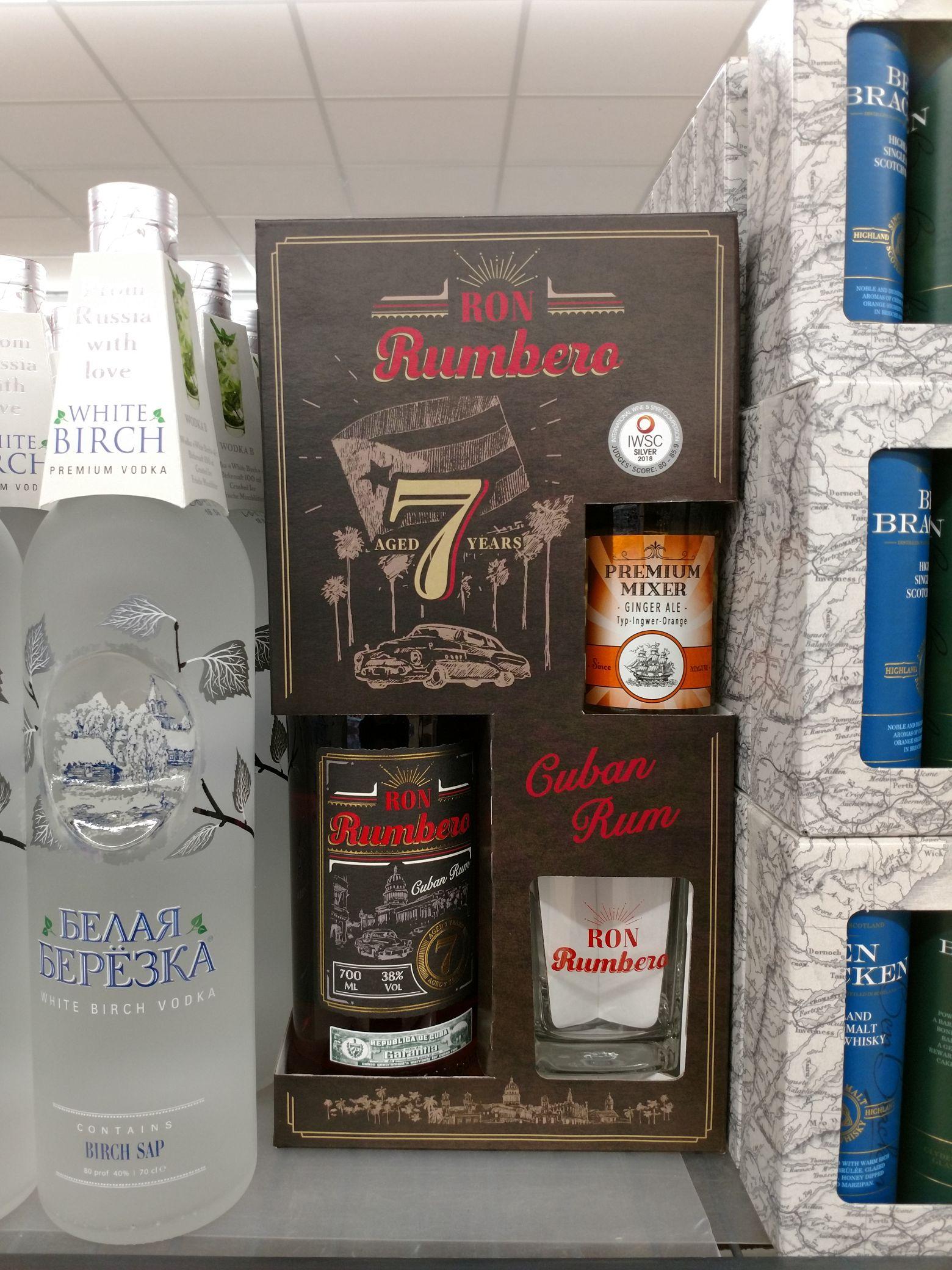 Ron Rumbero 7 Jahre (Rum aus Kuba) + Tumbler + Ginger Ale. / Lidl