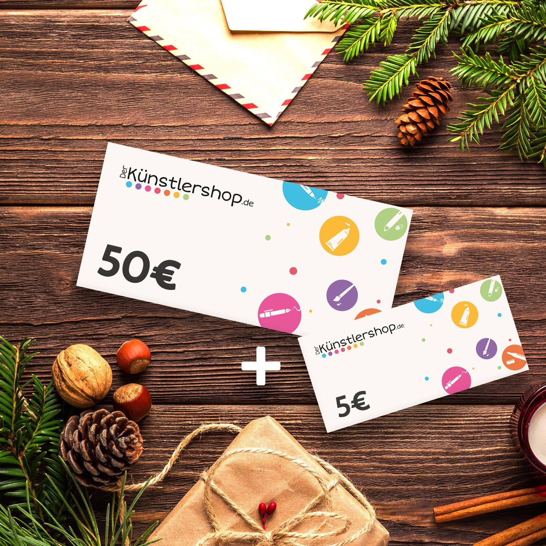 10% Extra-Guthaben beim Kauf eines Geschenkgutscheins - Der-Kuenstlershop: Künstlerbedarf, Stifte, Edding, Faber Castell, Copic, Marker