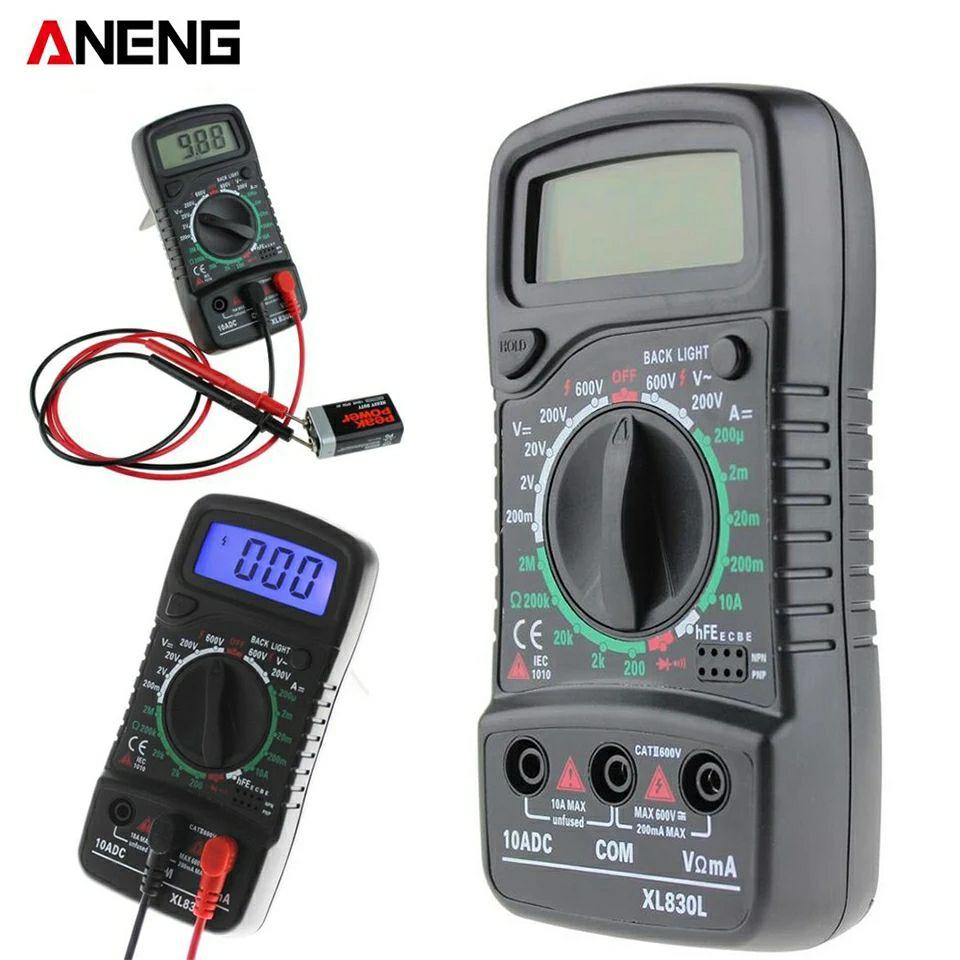 ANENG XL830L - Multimeter (AC / DC-Spannungsstrom-, Widerstands-, Kapazitäts-, Dioden- und Durchgangssummer-Messung, Datenhaltefunktion)