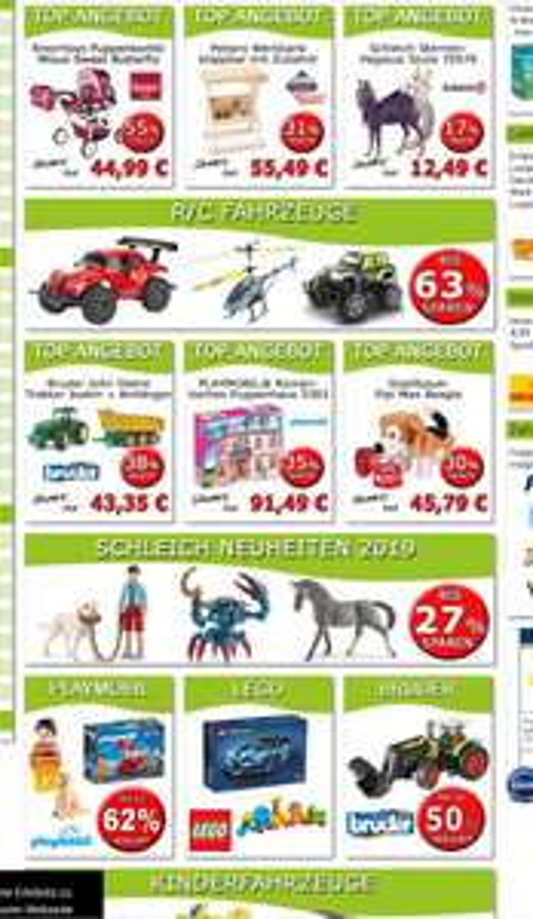 5€ Weihnachtsrabatt, Aktuelle Bestpreise Sammeldeal  zb. Lego, Duplo, Puppenkinderwagen, Puzzle, Schleich, Werkbank