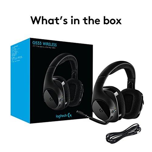 Logitech G533 Gaming Headset (kabelloser DTS 7.1 Surround Sound) schwarz (Amazon)