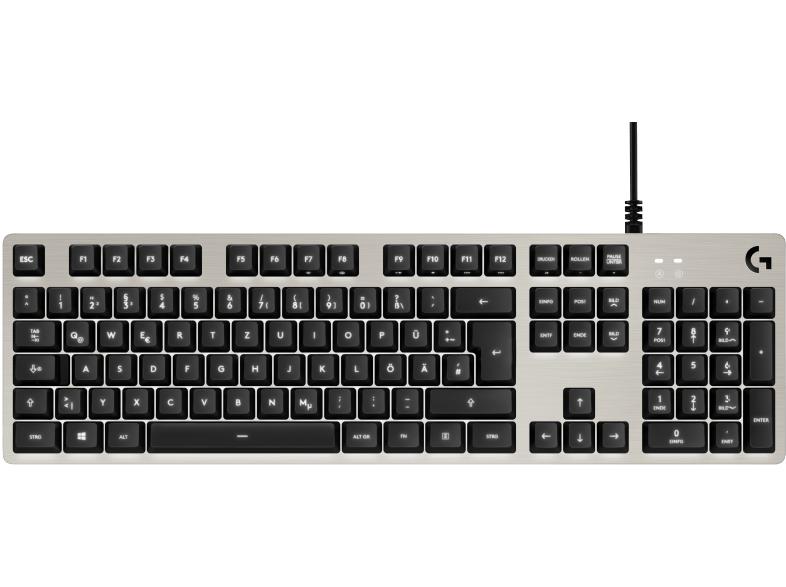 Logitech G413 mechanische Tastatur, Romer G Switches, weiße Beleuchtung, USB, DE [Mediamarkt Online]