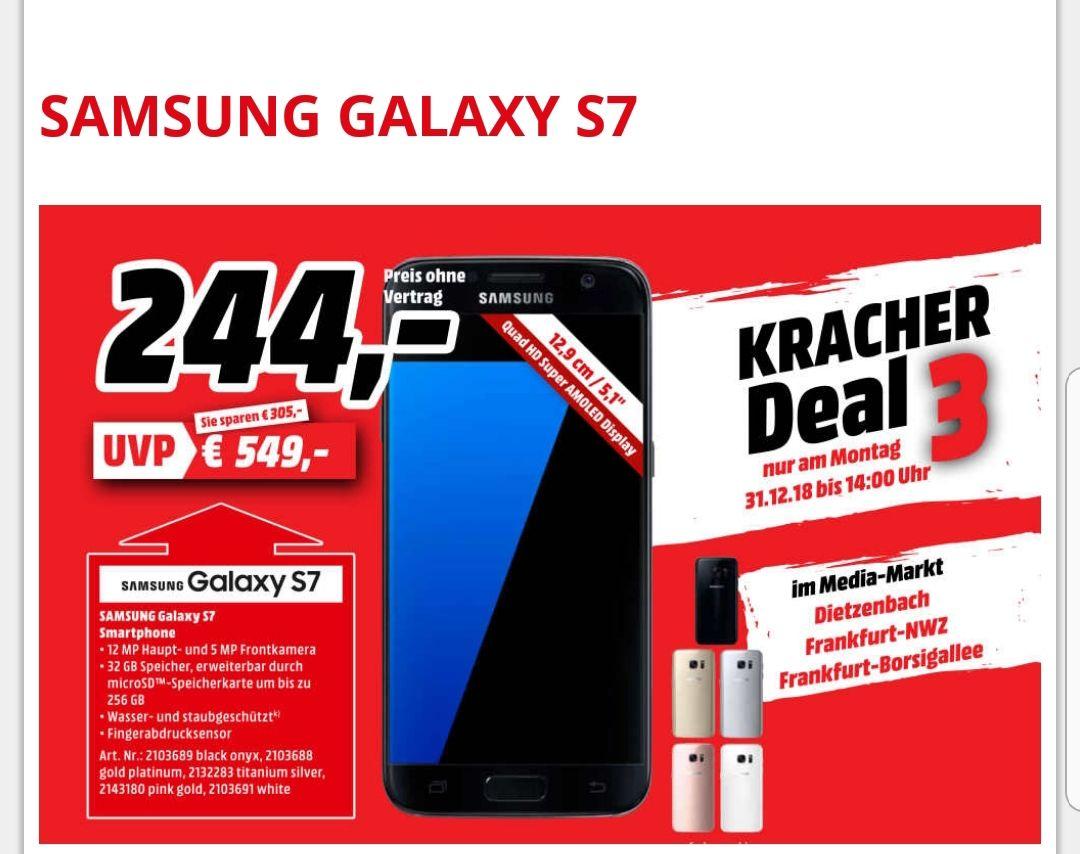 Samsung Galaxy S7 Smartphone für 244€ [Lokal Media Markt Frankfurt Dietzenbach]