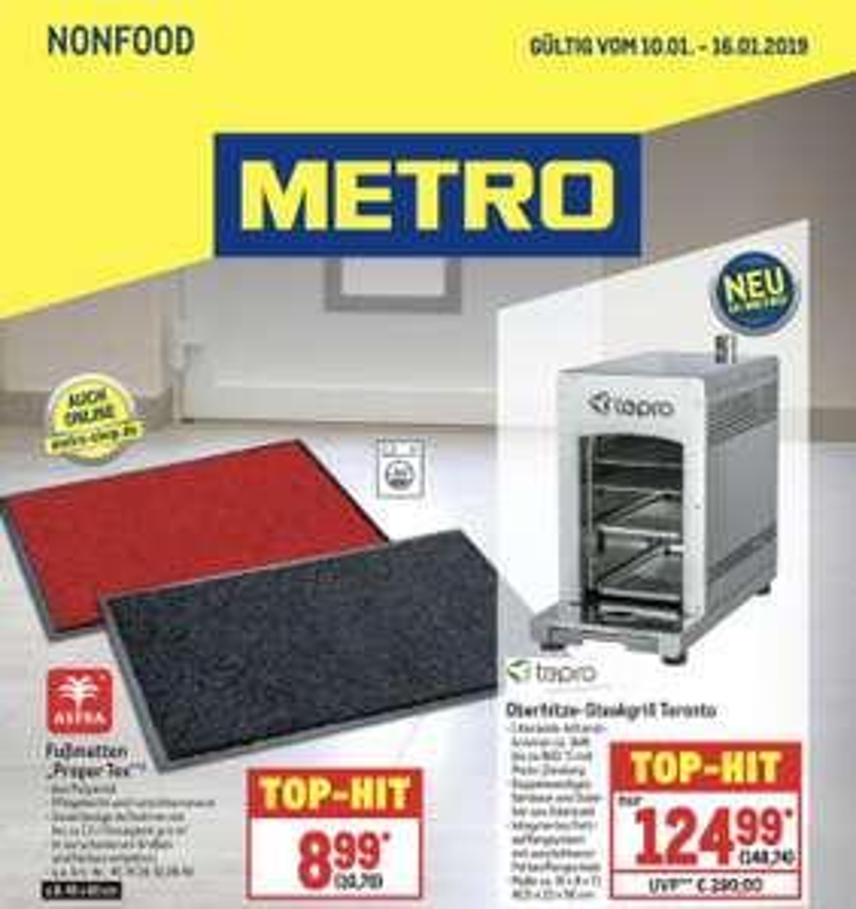Tepro Toronto Oberhitzegrill (wie Beefer) für ~149€ bei Metro (10.01.-16.01.)