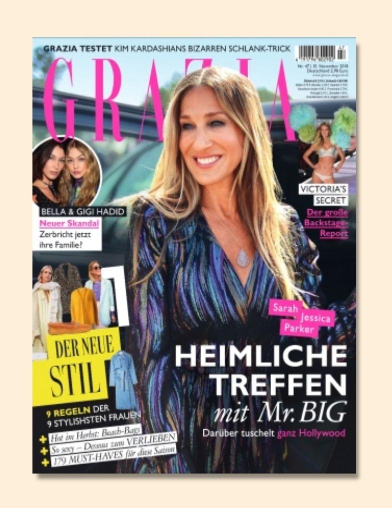 Zeitschrift GRAZIA Jahresabo (Abo, 50 Ausgaben) für 146€ + 150€ BestChoice Gutschein als Prämie