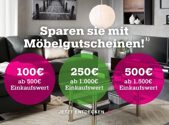 Mömax Gutscheine 100€/250€/500€ ab 500€ Einkaufswert, nicht gültig auf Sale