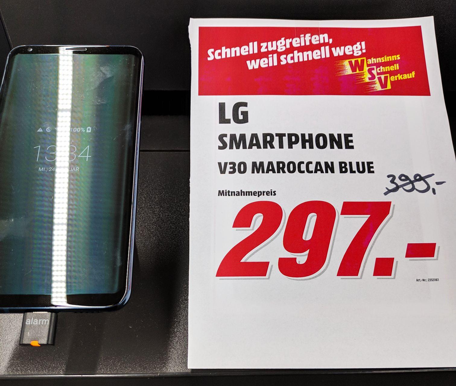 LG V30 in blau, lokal Mediamarkt Köln-Marsdorf nächstbester Preis bei Geizhals.de 379.-€