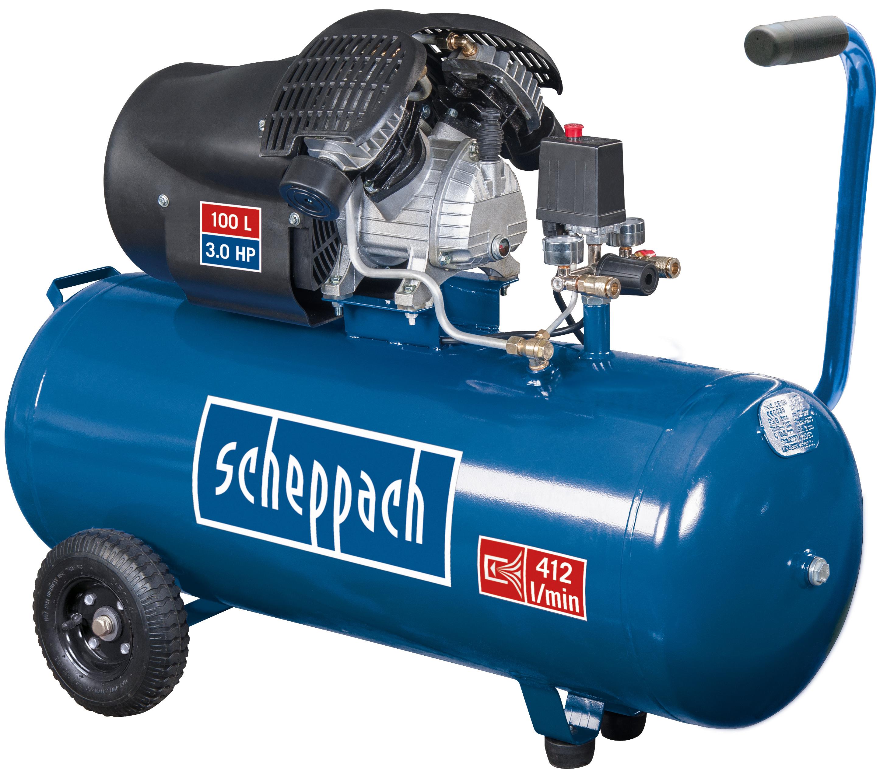 "[Globus-Baumarkt Markt-Abholung] Scheppach Kompressor ""HC100DC""  (2200 Watt, 100 L, 8 bar)"