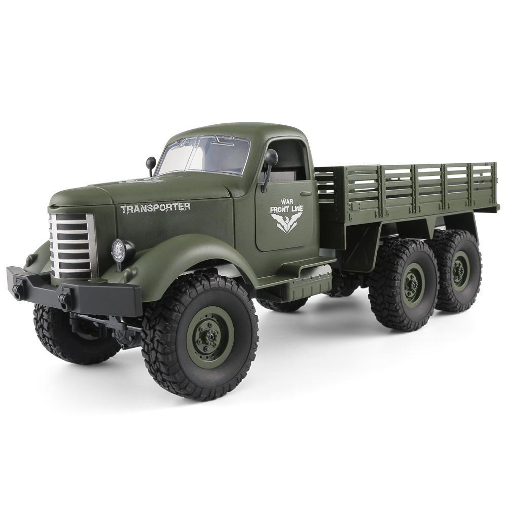 JJRC Q60 RC 1:16 2,4G Fernbedienung 6WD Antrieb Off-Road Militär Lkw Auto RTR (Grün oder Gelb)