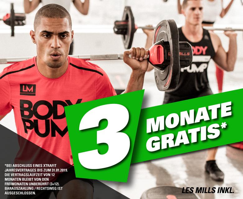 [Mainz/Lokal] Neues Fitnessstudio XtraFit - Eröffnungsaktion:+ 3 Monate Gratis bei Jahresvertrag bis 31.01. (Gesamtkosten: 14€/Monat)