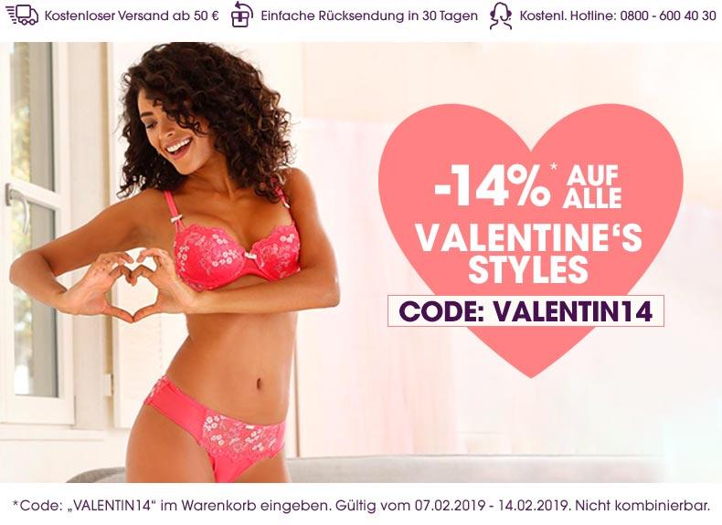 14% auf alle Valentin-Styles von Lascana