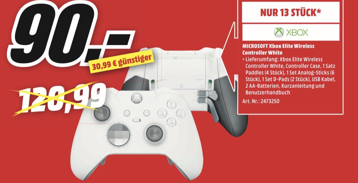 [Lokal Media Markt Braunschweig: am 10.02. von 13 -18 Uhr] Xbox One Wireless Elite Controller   Logitech G430 für 30€ statt 53€