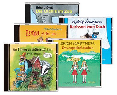 Hörspiele, Hörbücher oder Kinderlieder auf CD [ab 04.03., ALDI Süd]