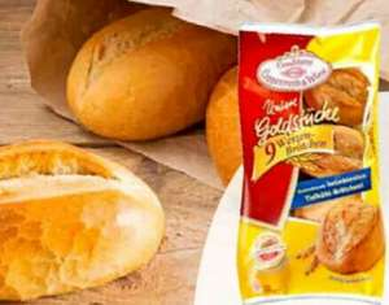 Coppenrath und Wiese Unsere Goldstücke - 9 Weizenbrötchen ++ 3x Schoko-Donut oder regional 5x Crustinis für 1€