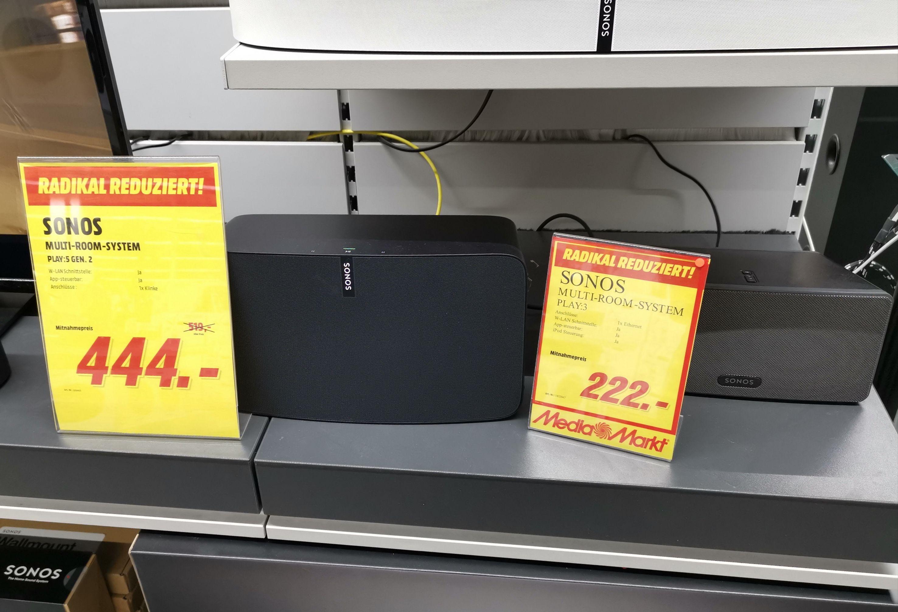 [Lokal MM Dresden] Sonos Play:3 (222€) oder Play:5 (444€)