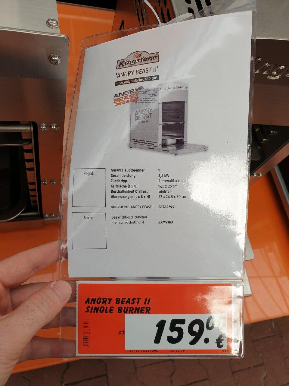 """OHG/800°C Kingstone """"Angry Beast"""" (Alternative zum original Beefer) für 159 € in jedem Bauhaus"""