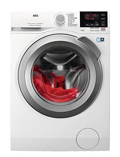 Waschmaschine AEG L6FBA48  / 8,0 kg / Mengenautomatik / Nachlegefunktion  / Schontrommel / Wasserstopp / 1400 U/min Energieklasse A+++