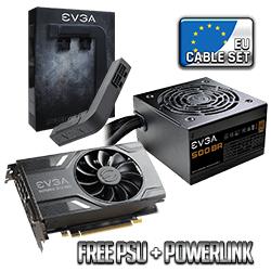 EVGA Gtx 1060 Gaming 3gb + Evga 500w Br Netzteil + Evga Power Link