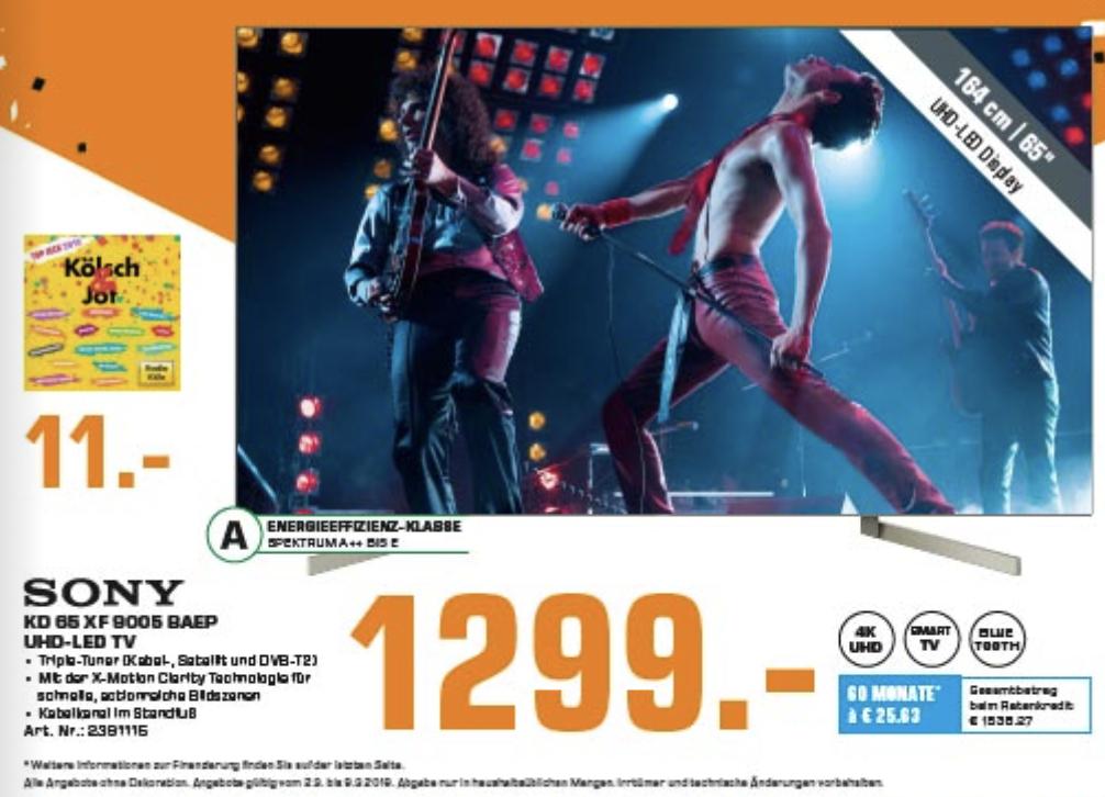 [Lokal] [Saturn Troisdorf] 2.3. - 9.3. Switch Super Smash Bros 45€ / Sony KD XF 9005 1299€ / Nintendo Switch 285€ / Logitech G703 55€