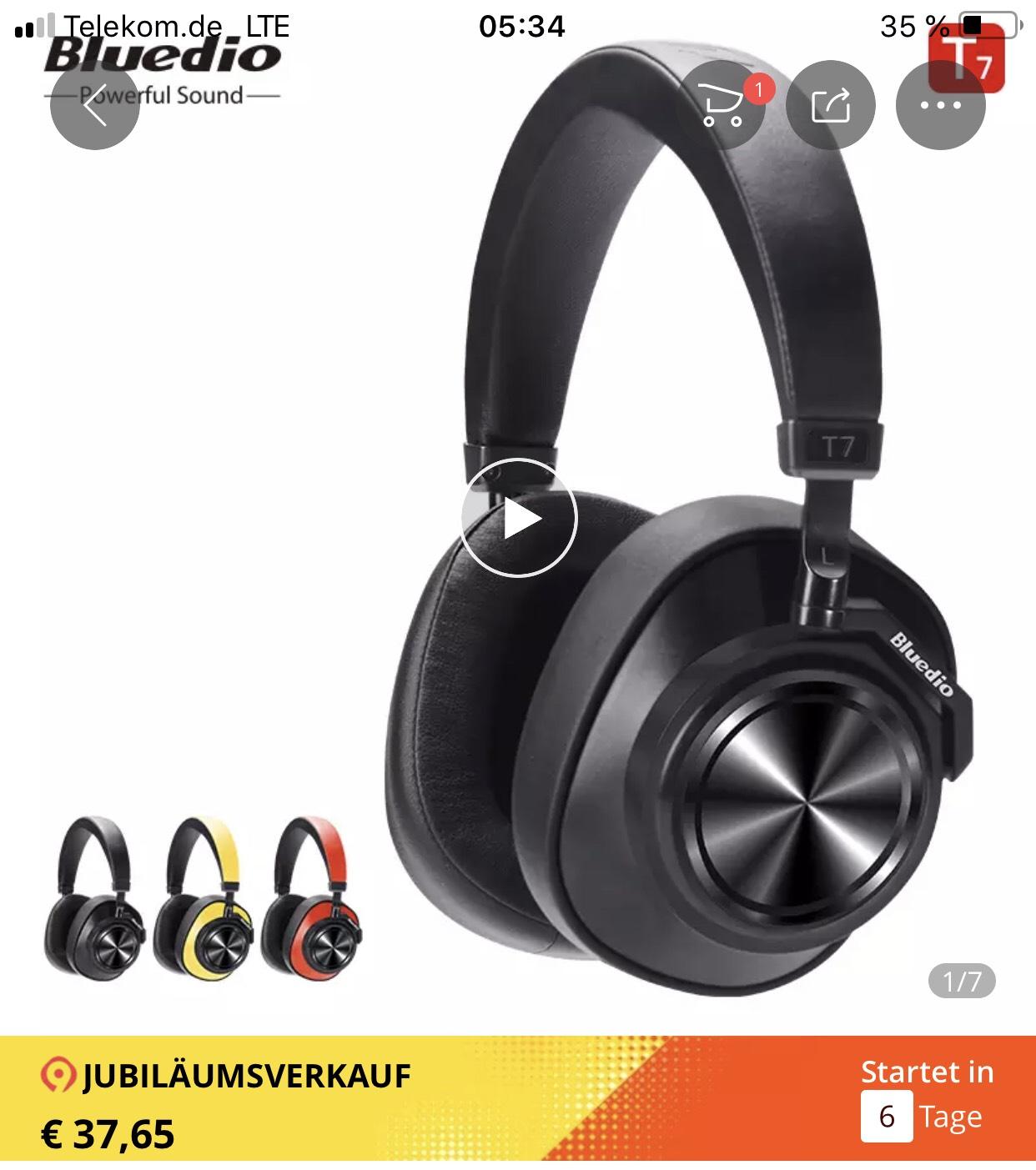 Bluedio T7 Bluetooth Kopfhörer