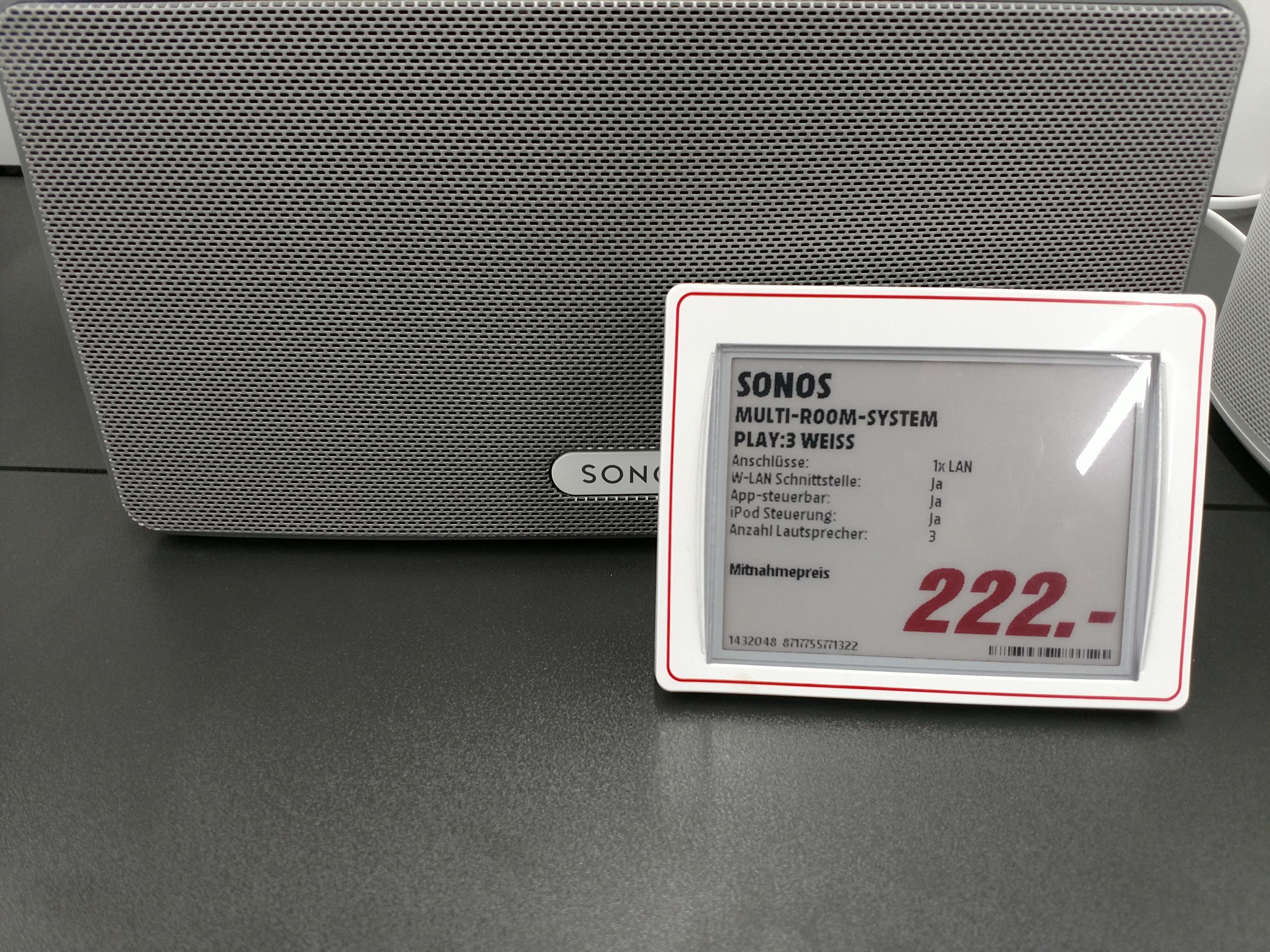 Sonos Play :3 Lokal Media Markt Stuttgart/Böblingen