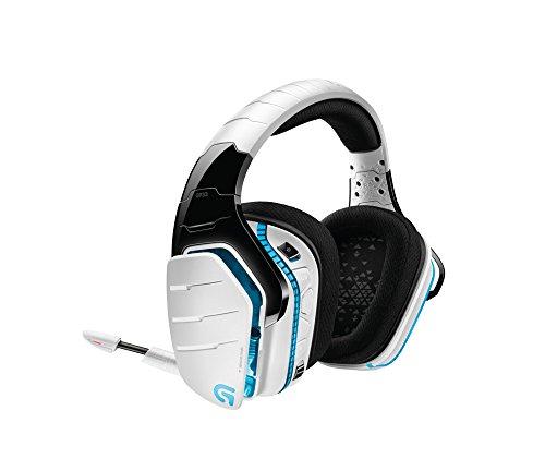 Logitech G933 Artemis Spectrum kabelloses 2,4 GHz Gaming-Headset (7.1 Surround Sound Pro, geeignet für PC, Xbox One und PS4) weiß